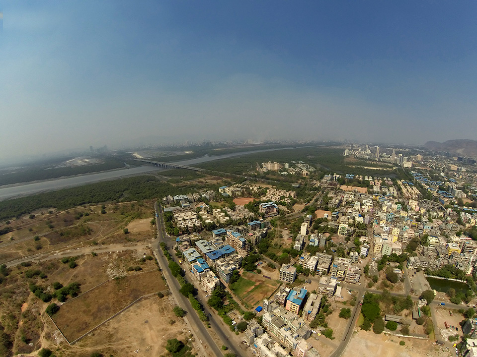 Airoli Bridge - Aerial Photography Mumbai