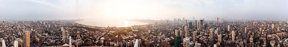 Mumbai Skyline by PixelDo.Com